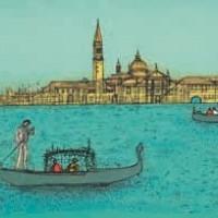 Գոնդոլը | La gondole | Վիմագրություն | Lithographie | 38.5×56 cm | 1993
