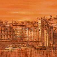 Էգ-Մորտ |  Aigues-mortes | Վիմագրություն | Lithographie | 32x49 cm