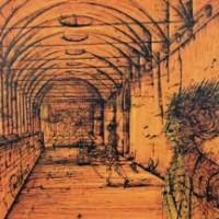 Մենաստան | Le cloître | Վիմագրություն | Lithographie | 54.5x75 cm | 1981