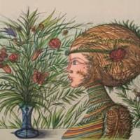 Ծաղկեփունջը II | Le bouquet II | Վիմագրություն | Lithographie | 43.5x56 cm | 1996