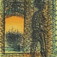 Բաց դուռը | La porte ouverte | Վիմագրություն | Lithographie | 42.5×33 cm | 1971