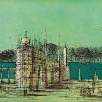 Հեռավոր պալատը | Lointain Palais | Փորագրանկար | Gravure | 50x66.5 cm | 1983