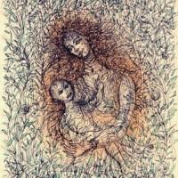 Մայրություն | Maternité | Վիմագրություն | Lithographie | 54x37.5 cm | 1988