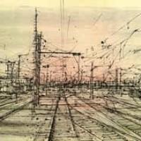 Երկաթուղին | Le chemin de fer | Վիմագրություն | Lithographie | 38×56.5 cm | 1968