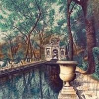 Մեդիչի շատրվանը | La fontaine Médicis | Վիմագրություն | Lithographie | 51.5×66 cm | 1986