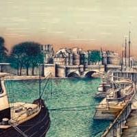 Նոր կամուրջը | Le pont Neuf | Վիմագրություն | Lithographie | 51.5×66 cm | 1986