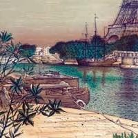 Դե Պասի առափը | Le quai de Passy | Վիմագրություն | Lithographie | 51.5×66 cm | 1986