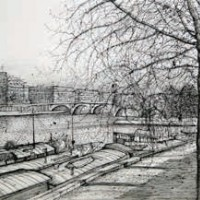 Վեռ Գալան պուրակը | Le Vert Galant | Վիմագրություն | Lithographie | 41x56 cm | 1986