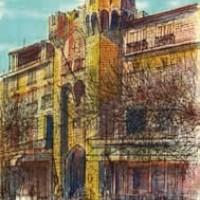 Մանոսք | Manosque | Վիմագրություն | Lithographie 32x24.5 cm | 1965