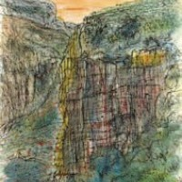 Վերդոնի կիրճը | Les gorges du Verdon | Վիմագրություն | Lithographie 32x24.5 cm | 1965