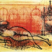 Հարճը | L'Odalisque | Վիմագրություն | Lithographie | 38×56 cm | 1968