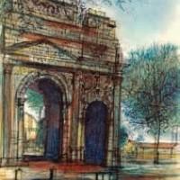 Հաղթանակի կամարը | L'Arc de Triomphe | Վիմագրություն | Lithographie 32x24.5 cm | 1965