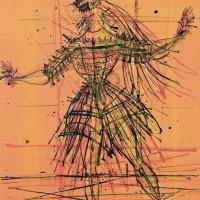 Պարողը | Le danseur | Վիմագրություն | Lithographie | 53×46 cm | 1961