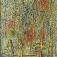 Ծառուղին | L'allée | Վիմագրություն | Lithographie | 38x28.5 cm
