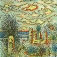 Գերեզմանոցը | Le cimetière | Վիմագրություն | Lithographie | 38x28.5 cm