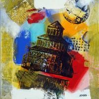 Փախուստ իրականությունից | Evasive Reality | Կտավ, ակրիլ, միքս մեդիա | Canvas, acril, mix media |  40x50 cm |2011